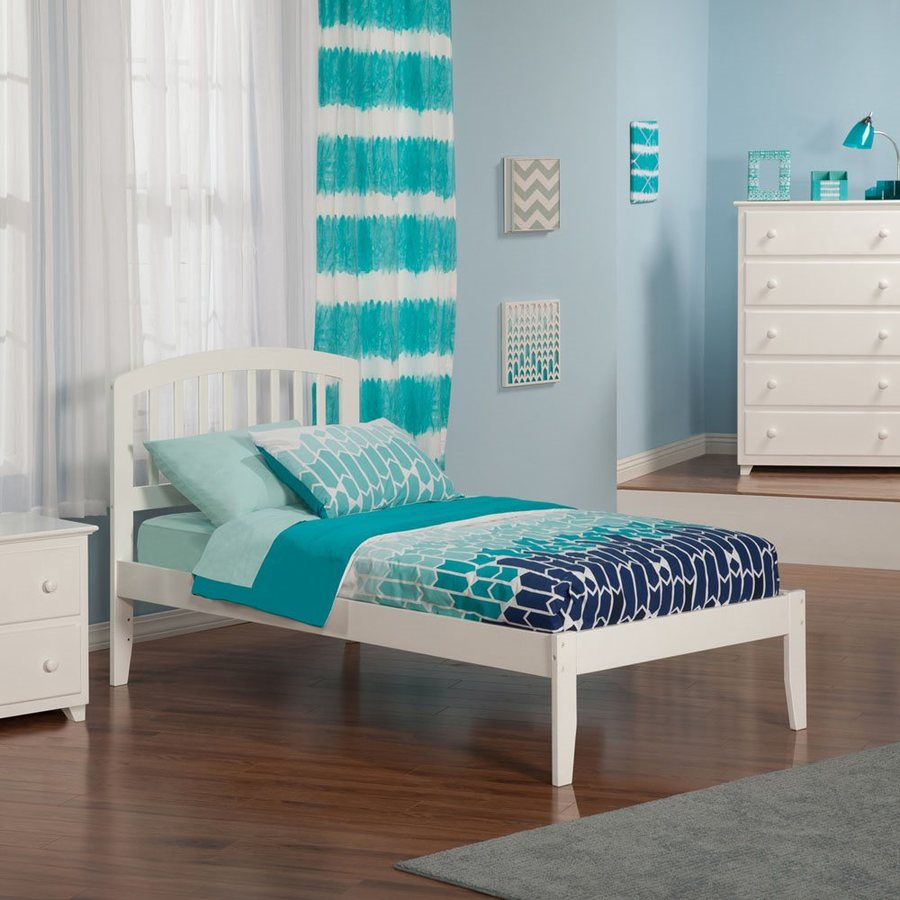 Atlantic Furniture Richmond White Twin Xl Platform Bed