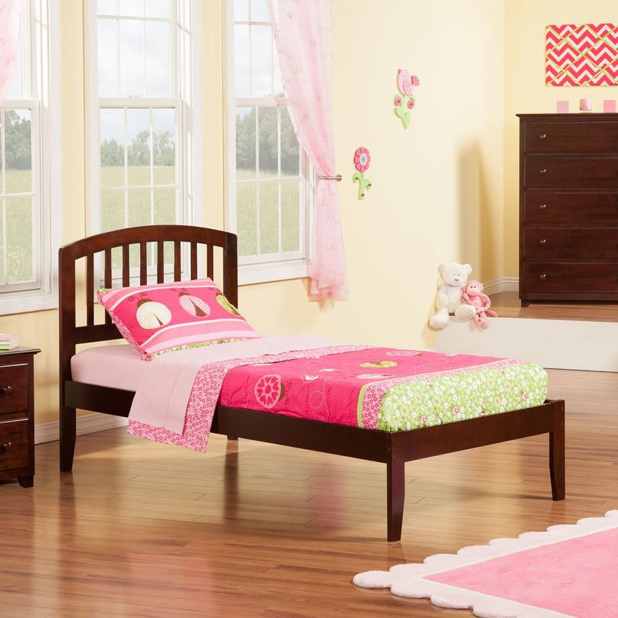 Atlantic Furniture Richmond Antique Walnut Twin Xl Platform Bed
