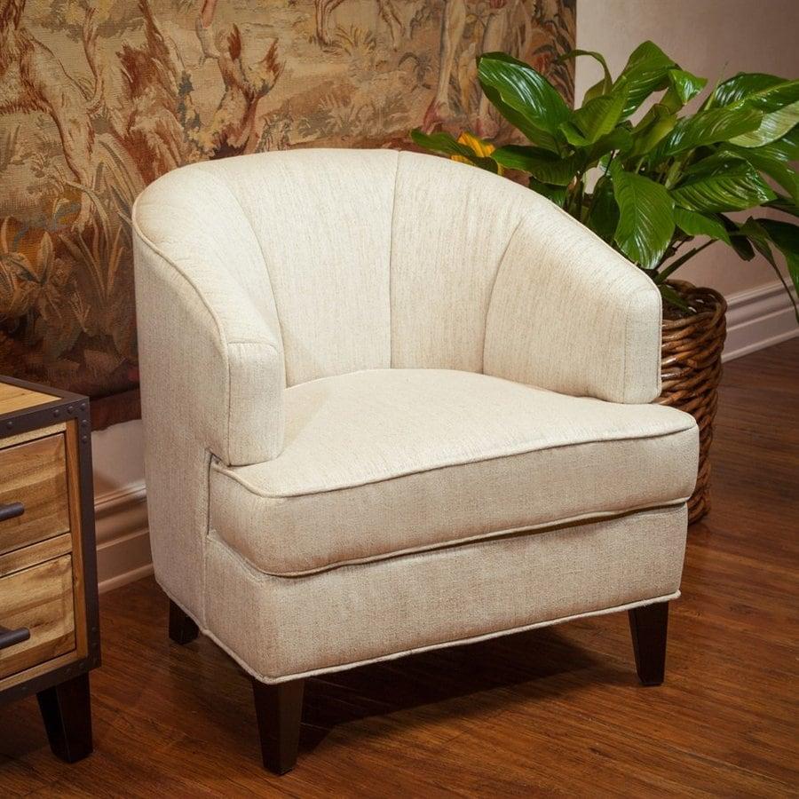Best Selling Home Decor Dane Coastal Oatmeal Cotton Blend Club Chair