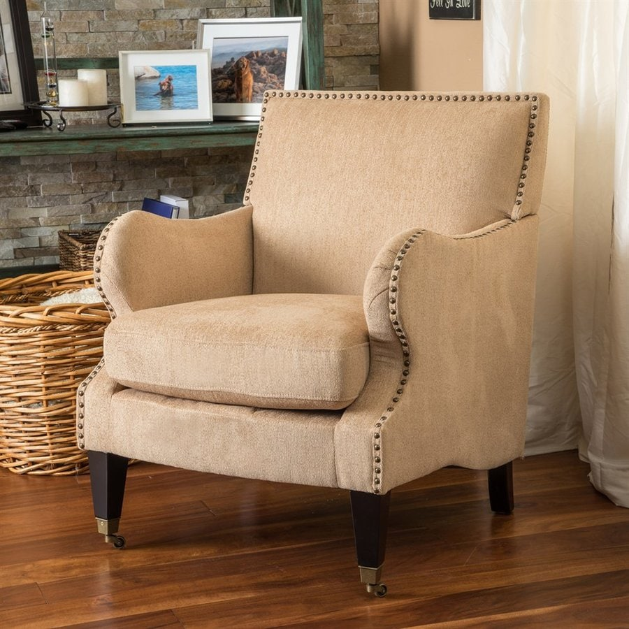 Best Selling Home Decor Gregory Casual Fawn Polyester Blend Club Chair