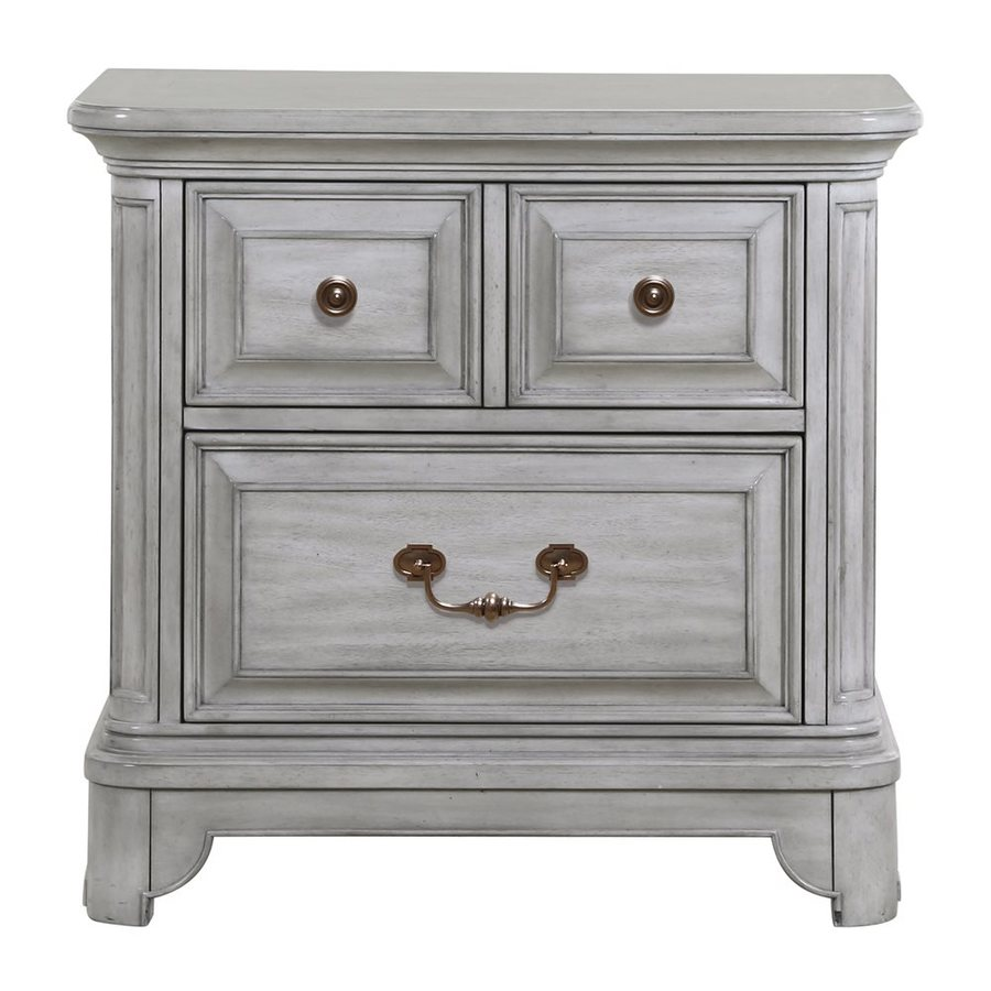Magnussen Home Windsor Lane Weathered Grey Nightstand