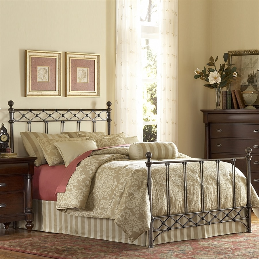 Fashion Bed Group Argyle Copper Chrome Queen 4-Poster Bed
