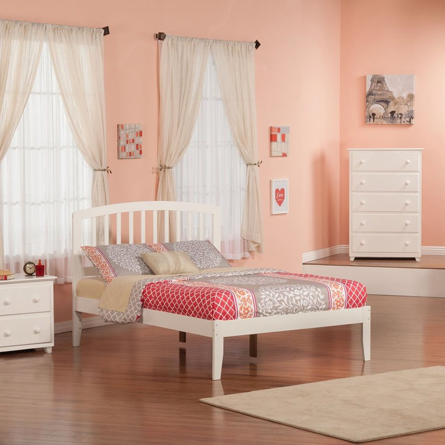 Atlantic Furniture Richmond White Full Platform Bed
