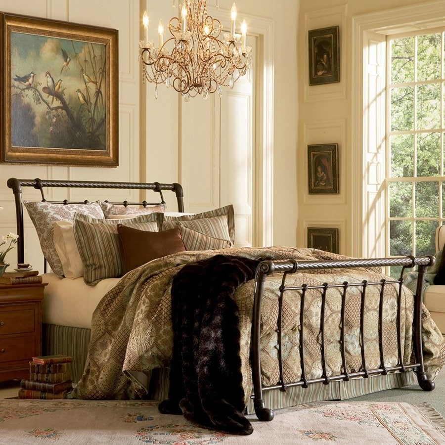 Fashion Bed Group Legion Ancient Gold King Sleigh Bed