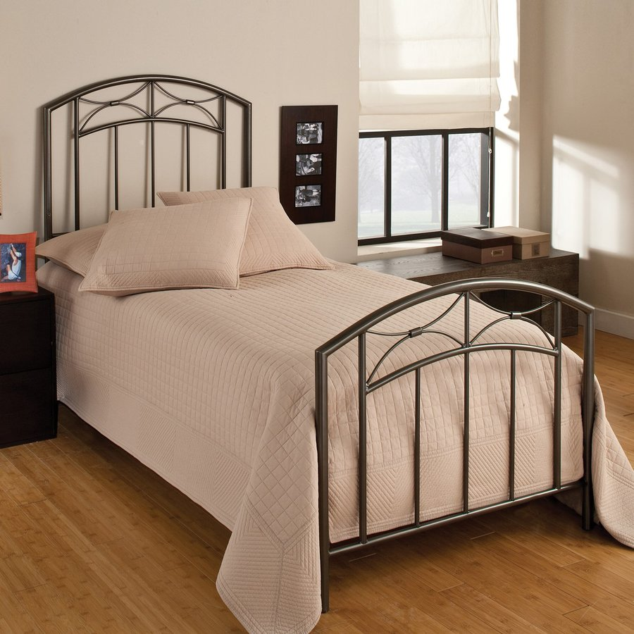 Hillsdale Furniture Morris Magnesium Pewter Twin Panel Bed