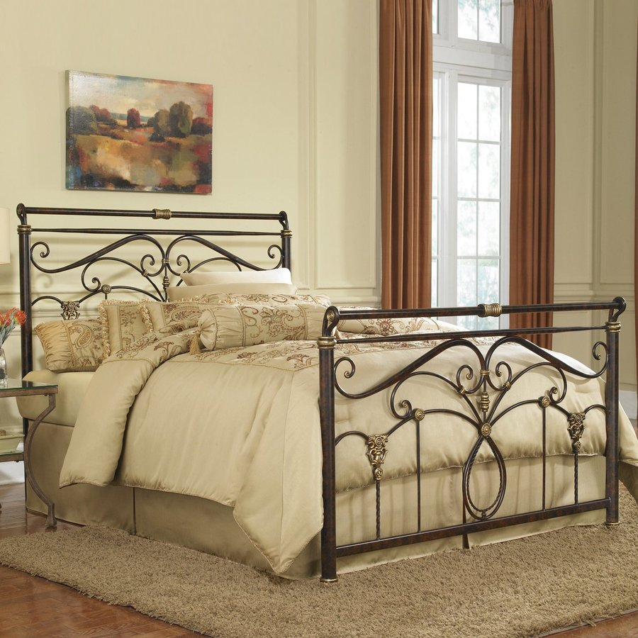 Fashion Bed Group Lucinda Marbled Russet King Sleigh Bed