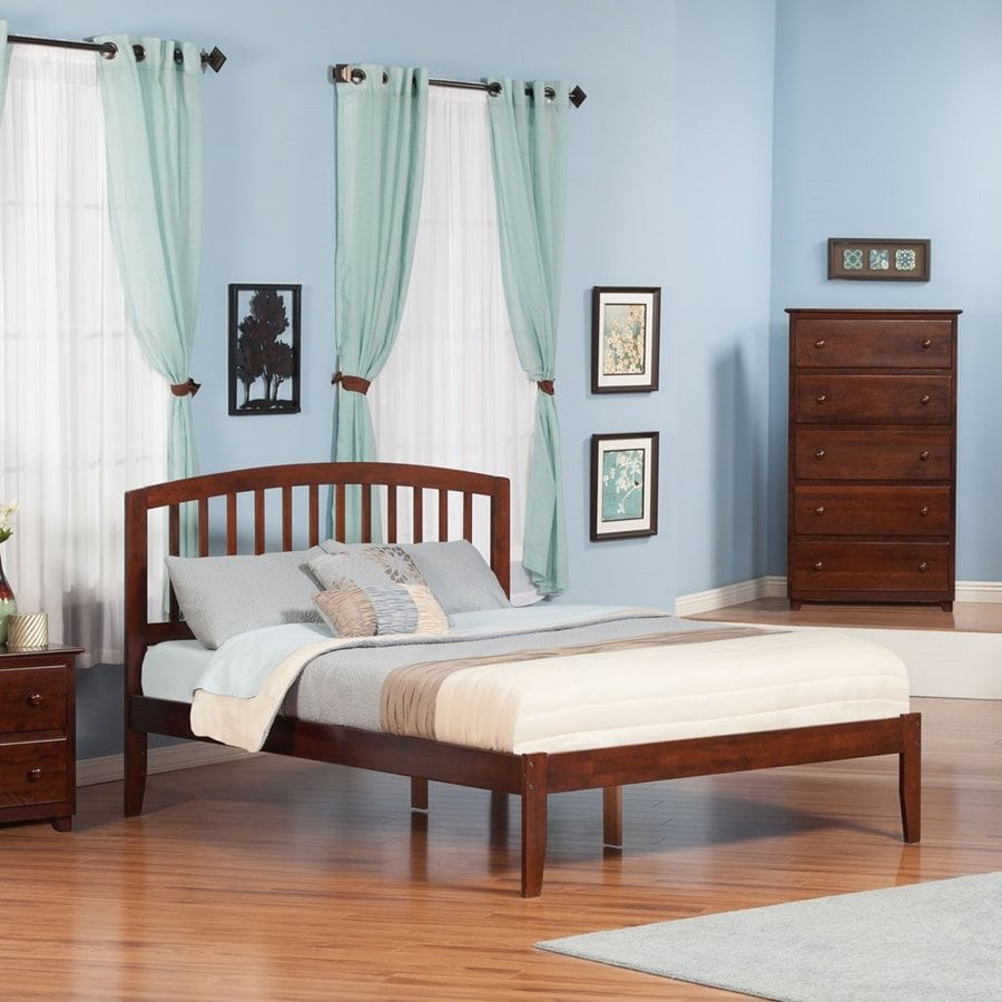 Atlantic Furniture Richmond Antique Walnut Queen Platform Bed