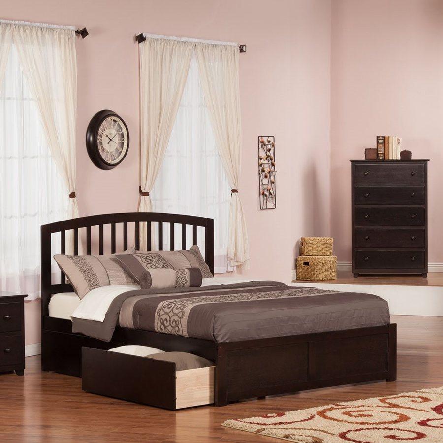 Atlantic Furniture Richmond Espresso Queen Platform Bed With Storage