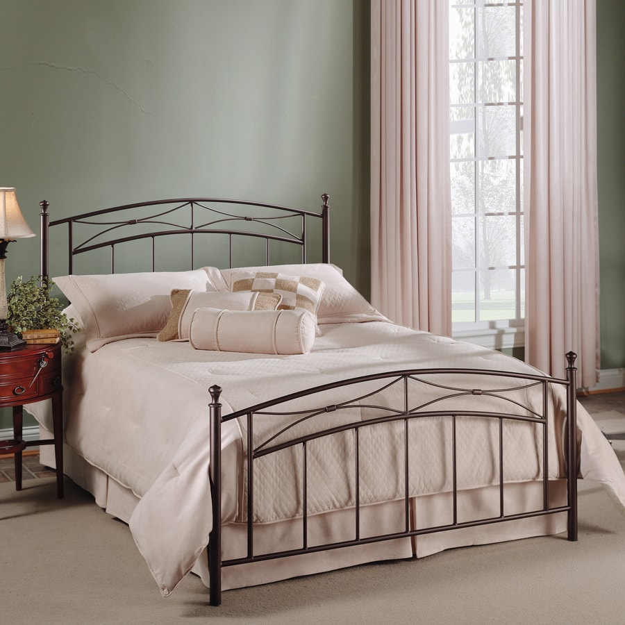 Hillsdale Furniture Morris Magnesium Pewter Twin 4-Poster Bed