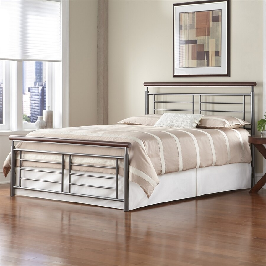 Fashion Bed Group Fontane Cherry/Silver Queen Panel Bed