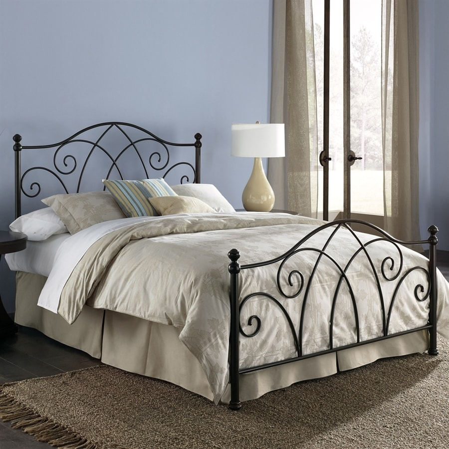 Fashion Bed Group Deland Brown Sparkle Queen 4-Poster Bed