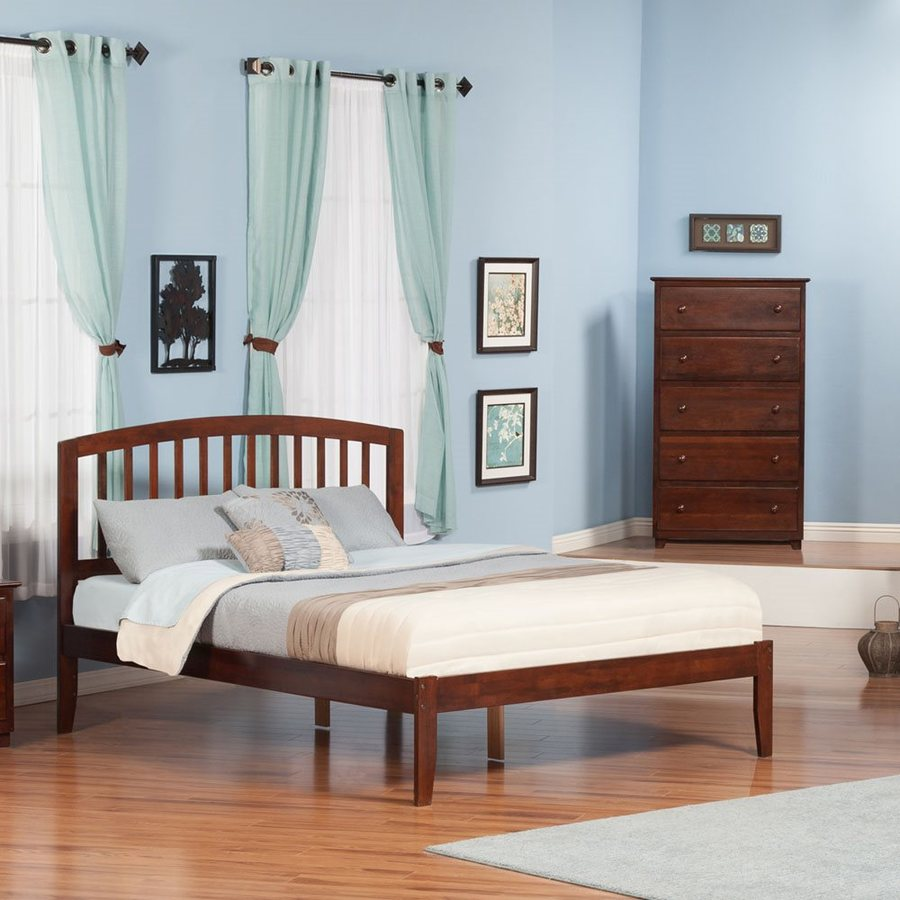 Atlantic Furniture Richmond Antique Walnut King Platform Bed