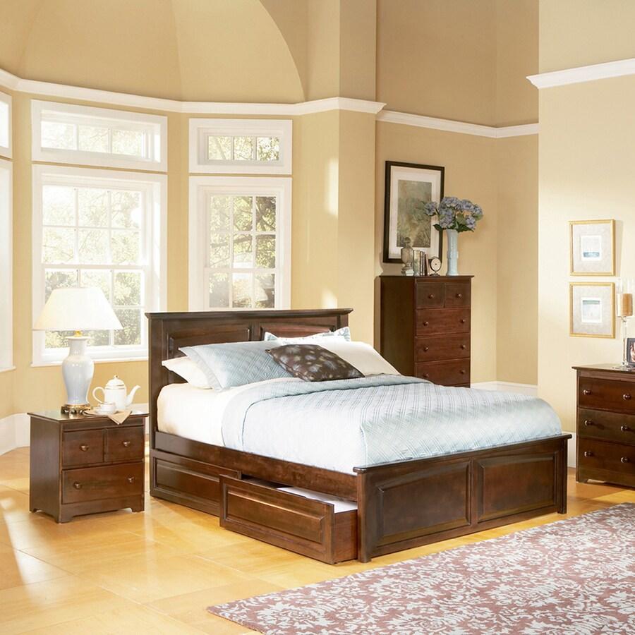Atlantic Furniture Monterey Antique Walnut King Platform Bed