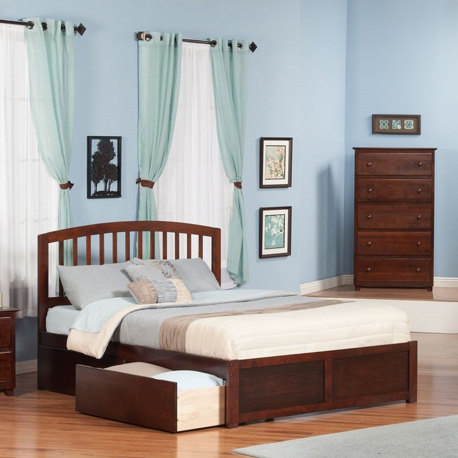 Atlantic Furniture Richmond Antique Walnut King Platform Bed With