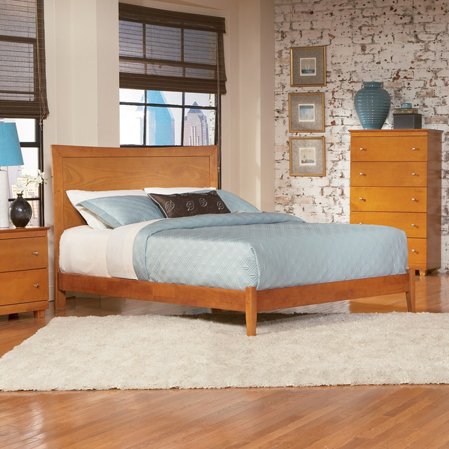 Atlantic Furniture Miami Caramel Latte Full Platform Bed