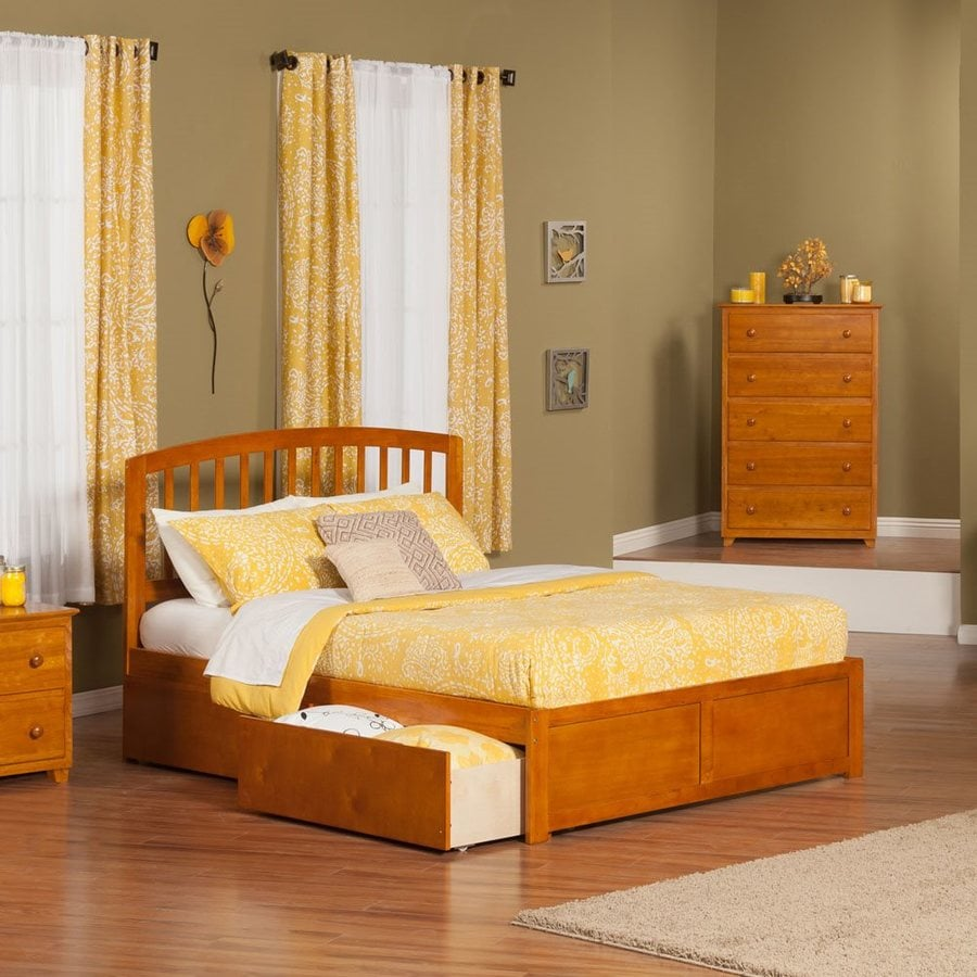 Atlantic Furniture Richmond Caramel Latte King Platform Bed With Storage