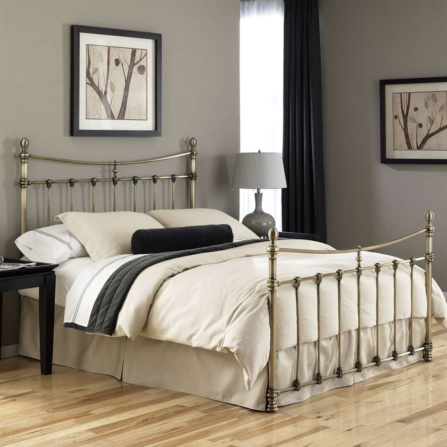 Fashion Bed Group Leighton Antique Brass King 4-Poster Bed