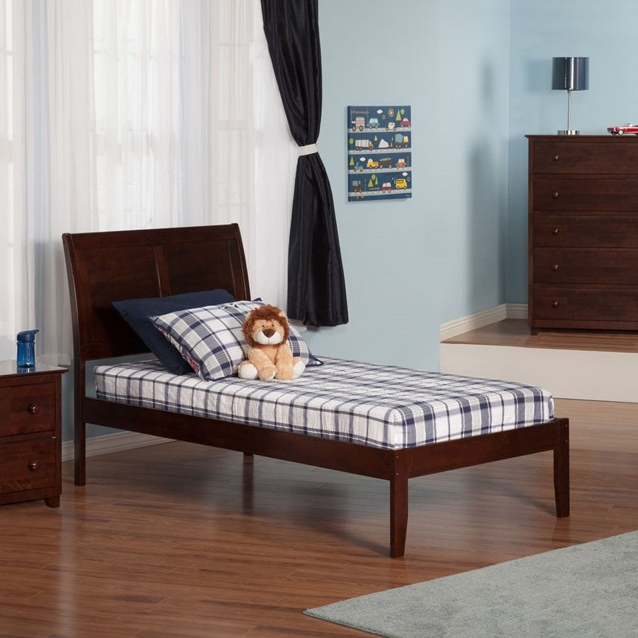 Atlantic Furniture Portland Antique Walnut Twin Xl Platform Bed