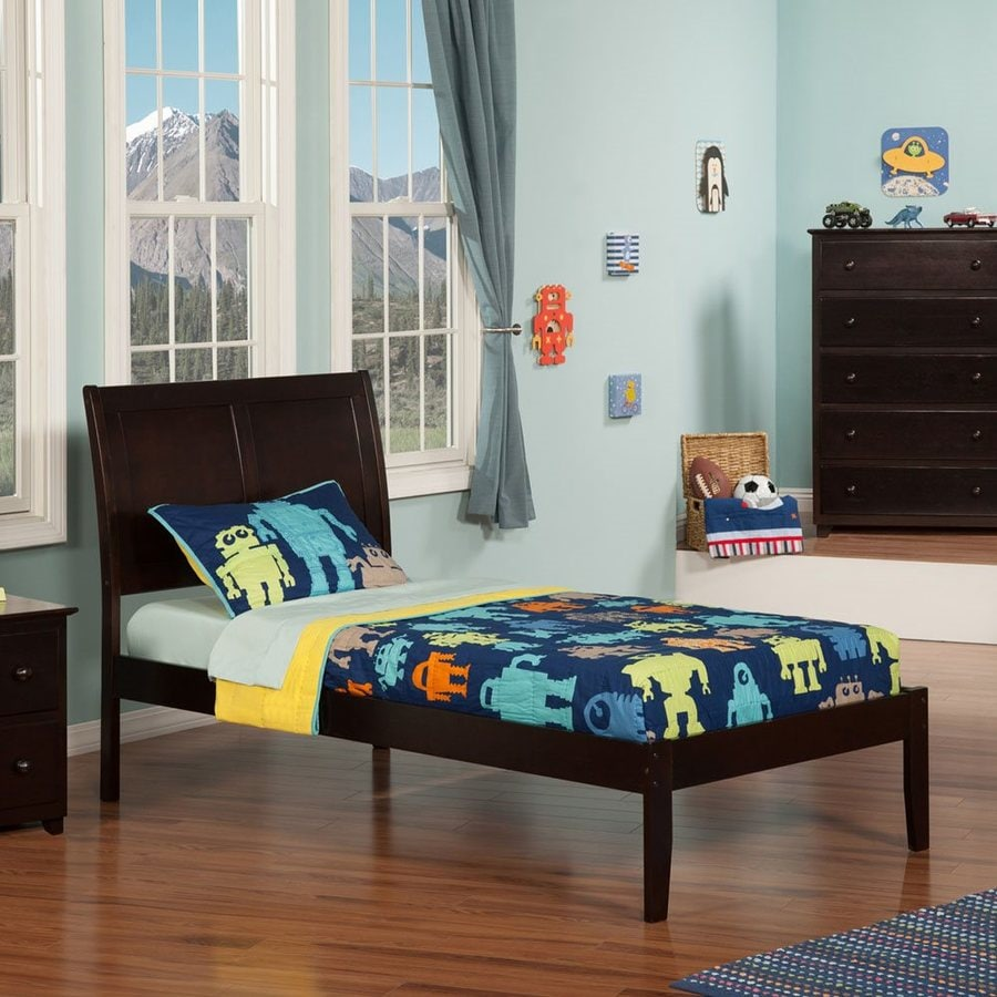 Atlantic Furniture Portland Espresso Twin Platform Bed