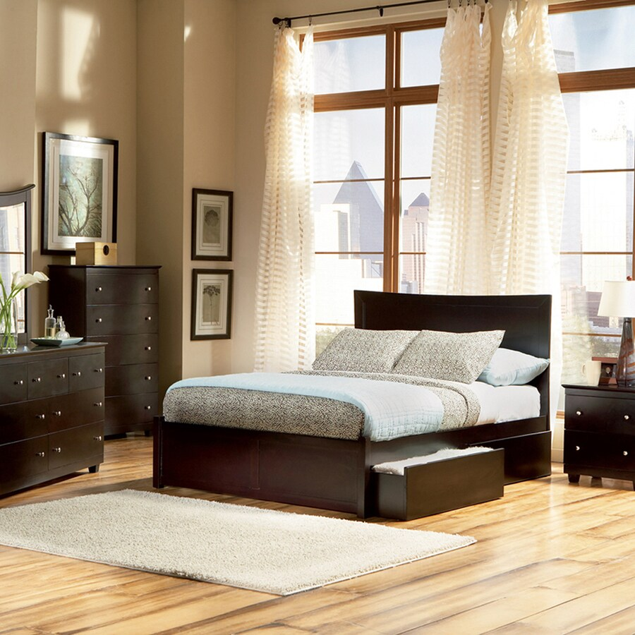 Atlantic Furniture Miami Espresso Queen Platform Bed