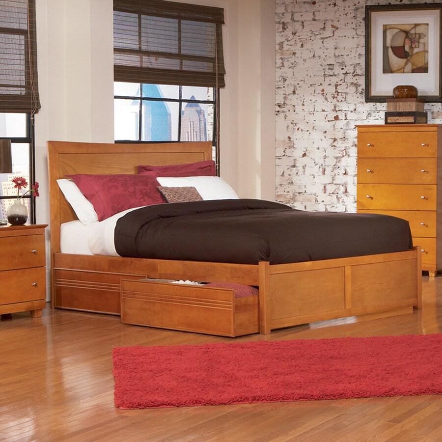 Atlantic Furniture Miami Caramel Latte Queen Platform Bed