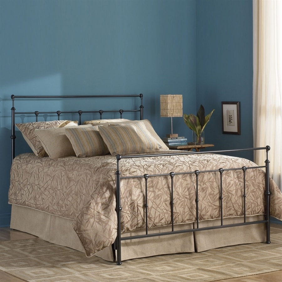 Fashion Bed Group Winslow Mahogany Gold King Panel Bed