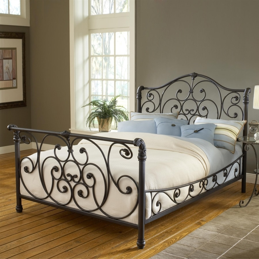 Hillsdale Furniture Mandalay Rustic Old Brown King Sleigh Bed