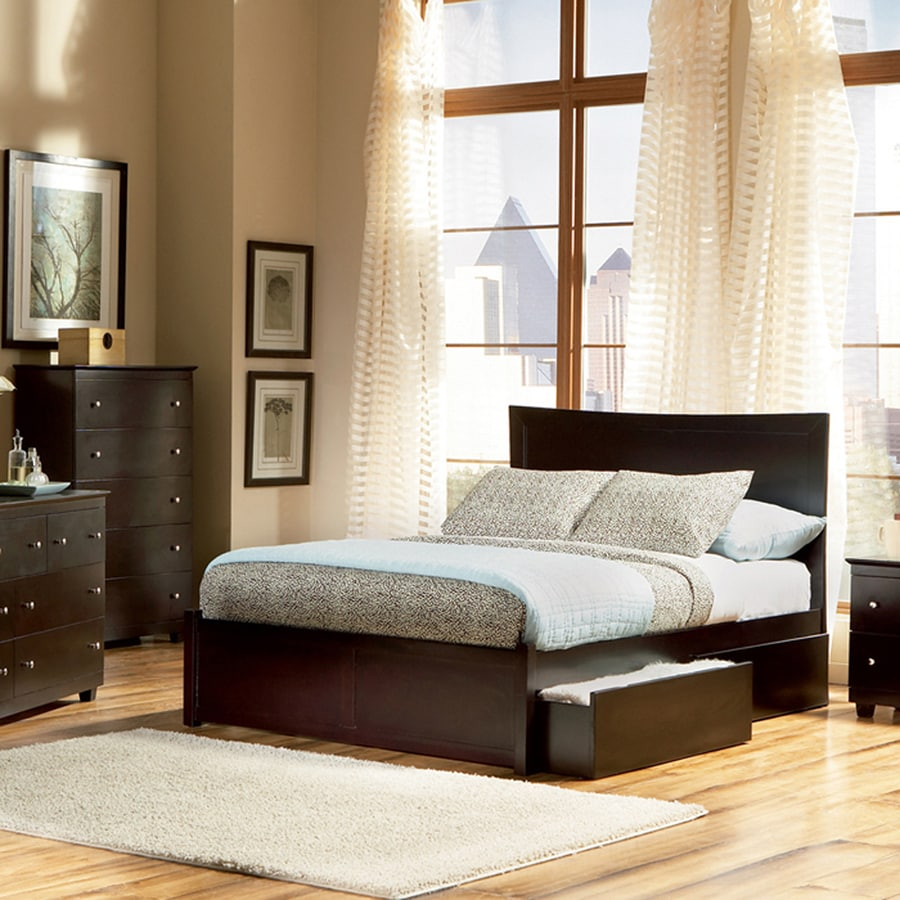 Atlantic Furniture Miami Espresso King Platform Bed