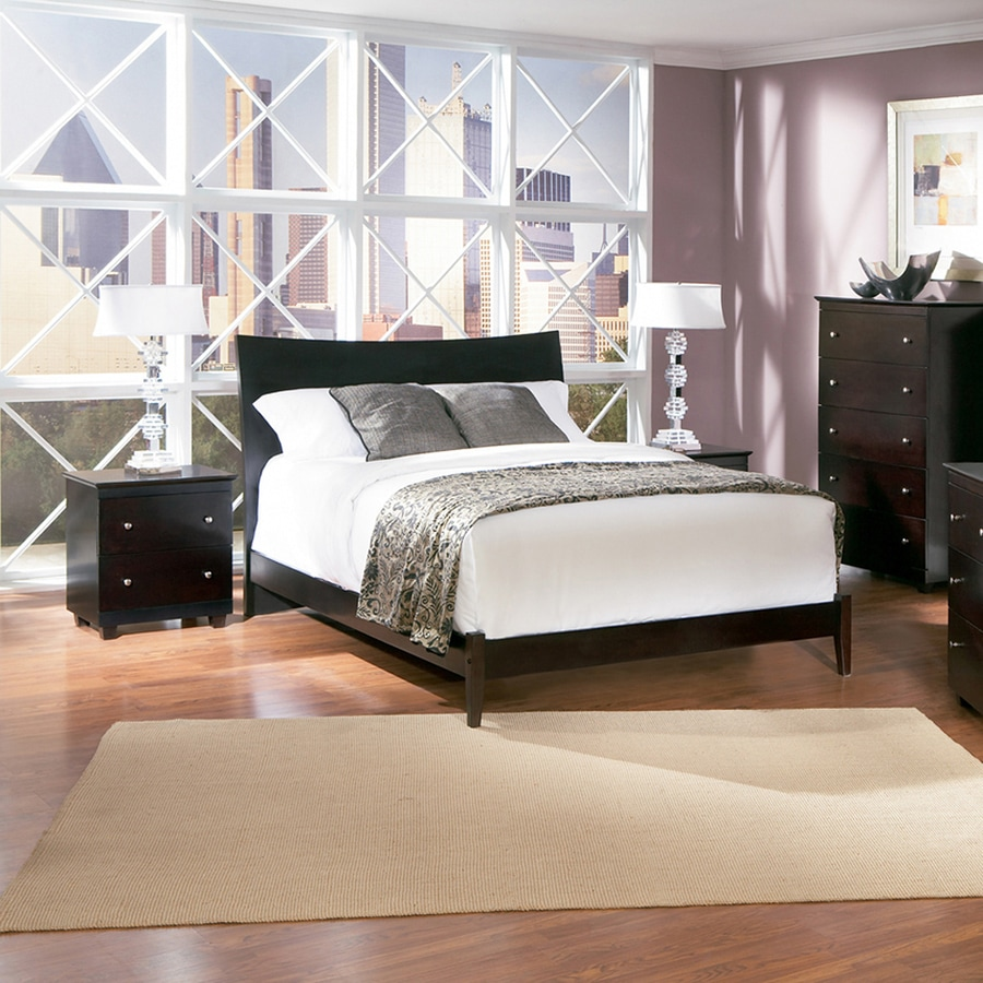 Atlantic Furniture Milano Espresso Queen Platform Bed