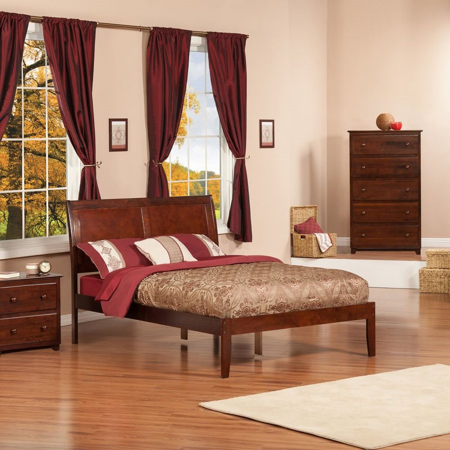 Atlantic Furniture Portland Antique Walnut Full Platform Bed