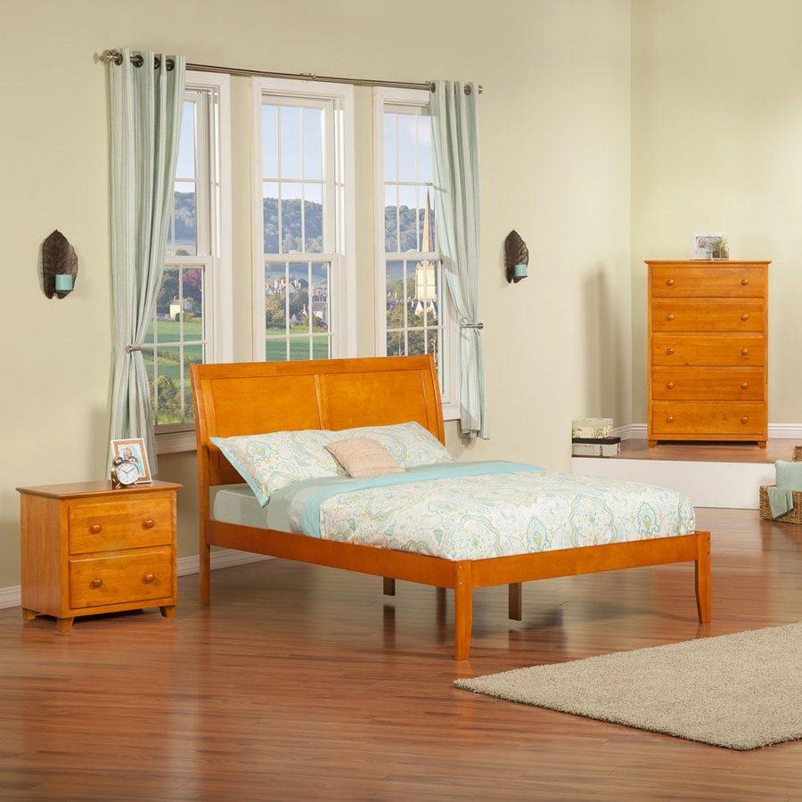 Atlantic Furniture Portland Caramel Latte Full Platform Bed