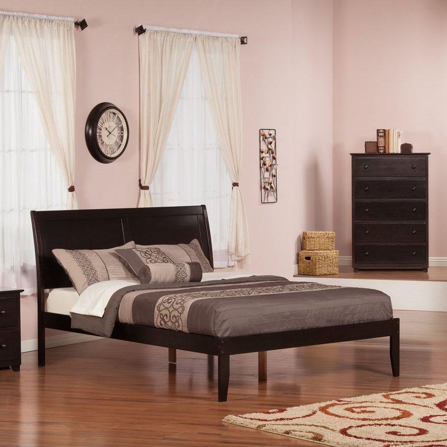 Atlantic Furniture Portland Espresso Queen Platform Bed