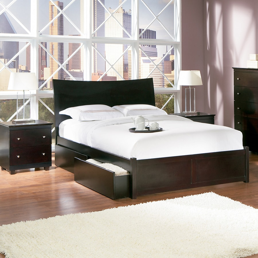 Atlantic Furniture Milano Espresso King Platform Bed
