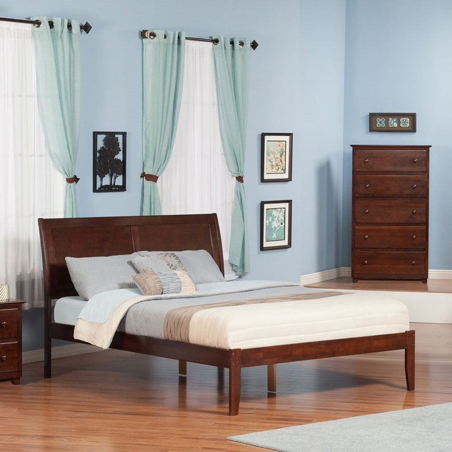 Atlantic Furniture Portland Antique Walnut Queen Platform Bed