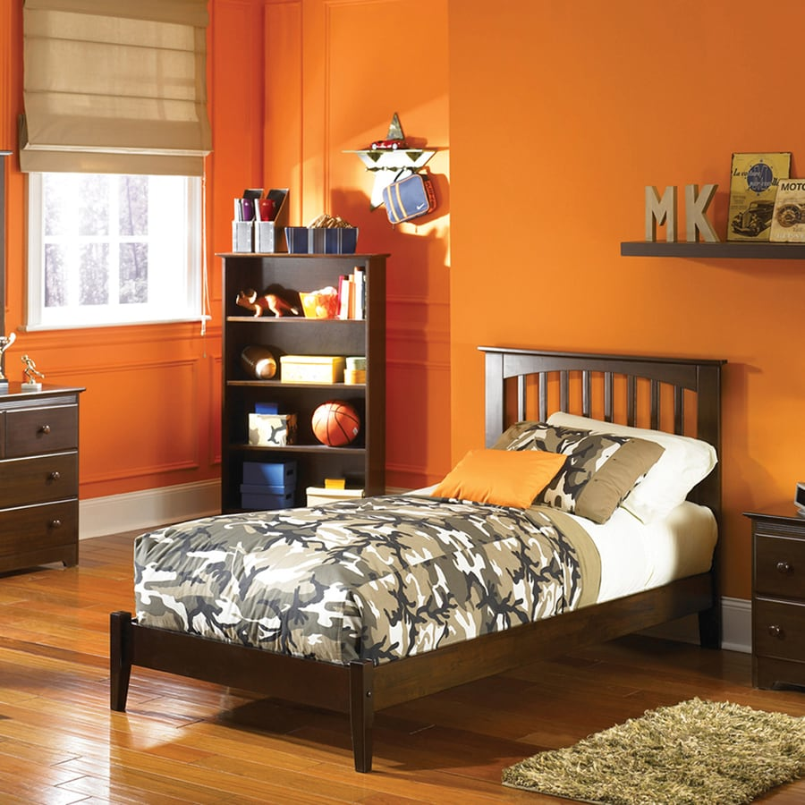 Atlantic Furniture Brooklyn Antique Walnut Twin Platform Bed