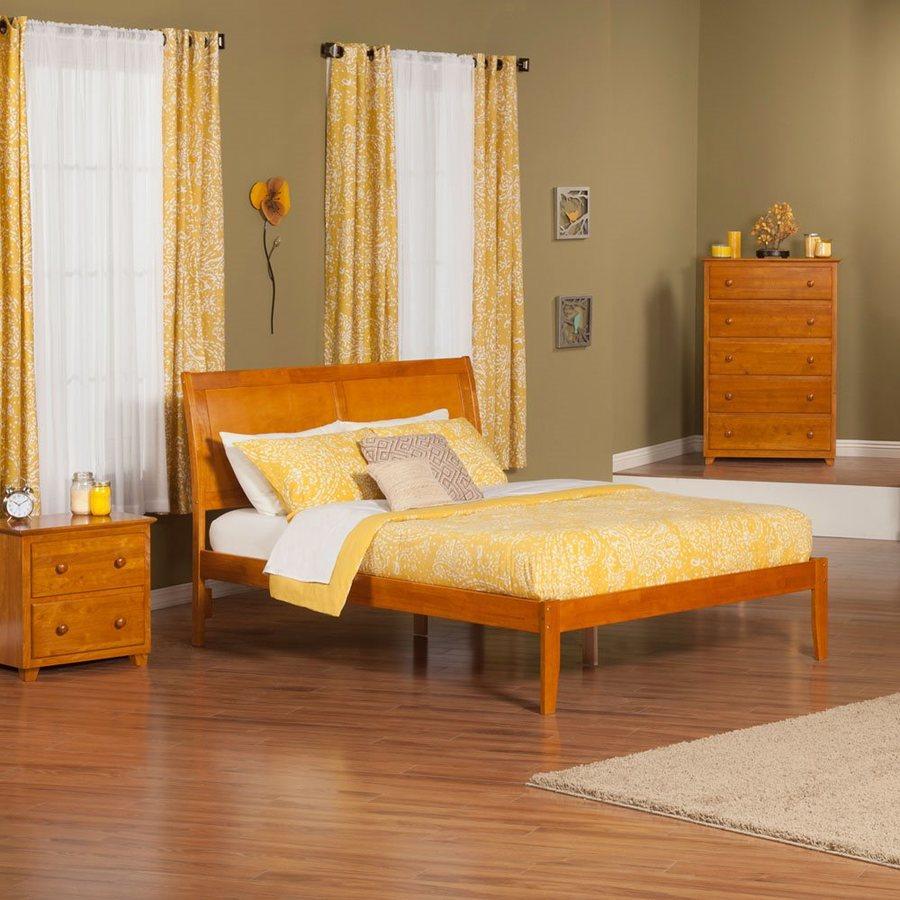 Atlantic Furniture Portland Caramel Latte Queen Platform Bed