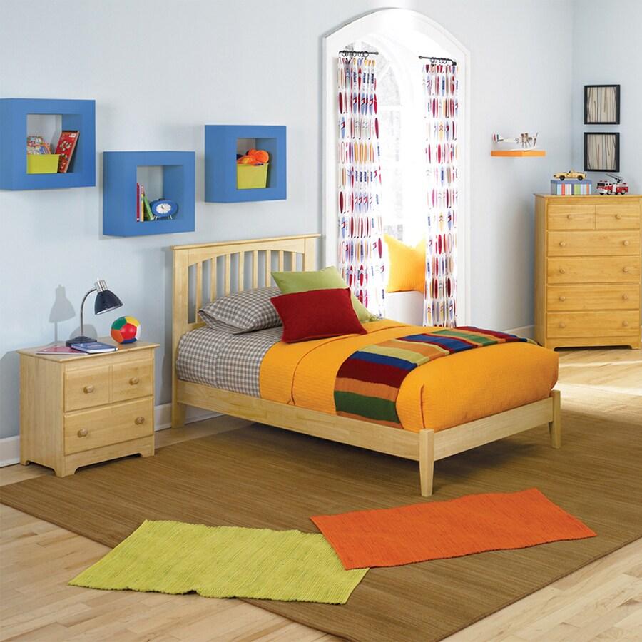 Atlantic Furniture Brooklyn Natural Maple Twin Platform Bed