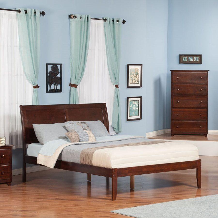 Atlantic Furniture Portland Antique Walnut King Platform Bed