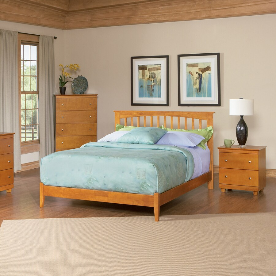 Atlantic Furniture Brooklyn Caramel Latte Twin Platform Bed