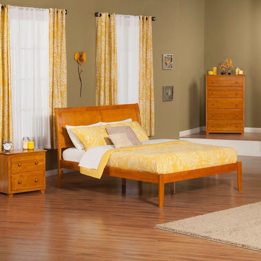 Atlantic Furniture Portland Caramel Latte King Platform Bed