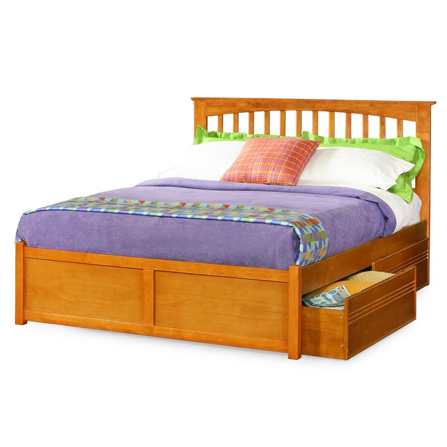 Atlantic Furniture Brooklyn Caramel Latte Twin Platform Bed