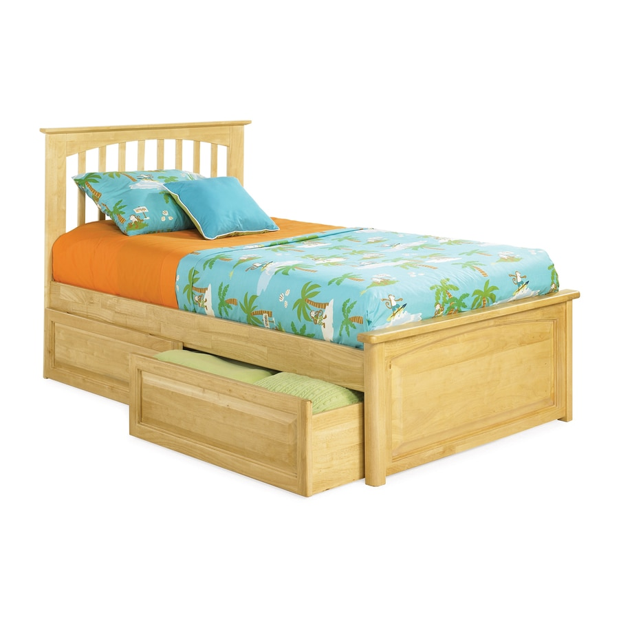 Atlantic Furniture Brooklyn Natural Maple Twin Platform Bed