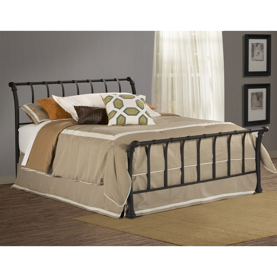 Hillsdale Furniture Janis Textured Black Queen Sleigh Bed