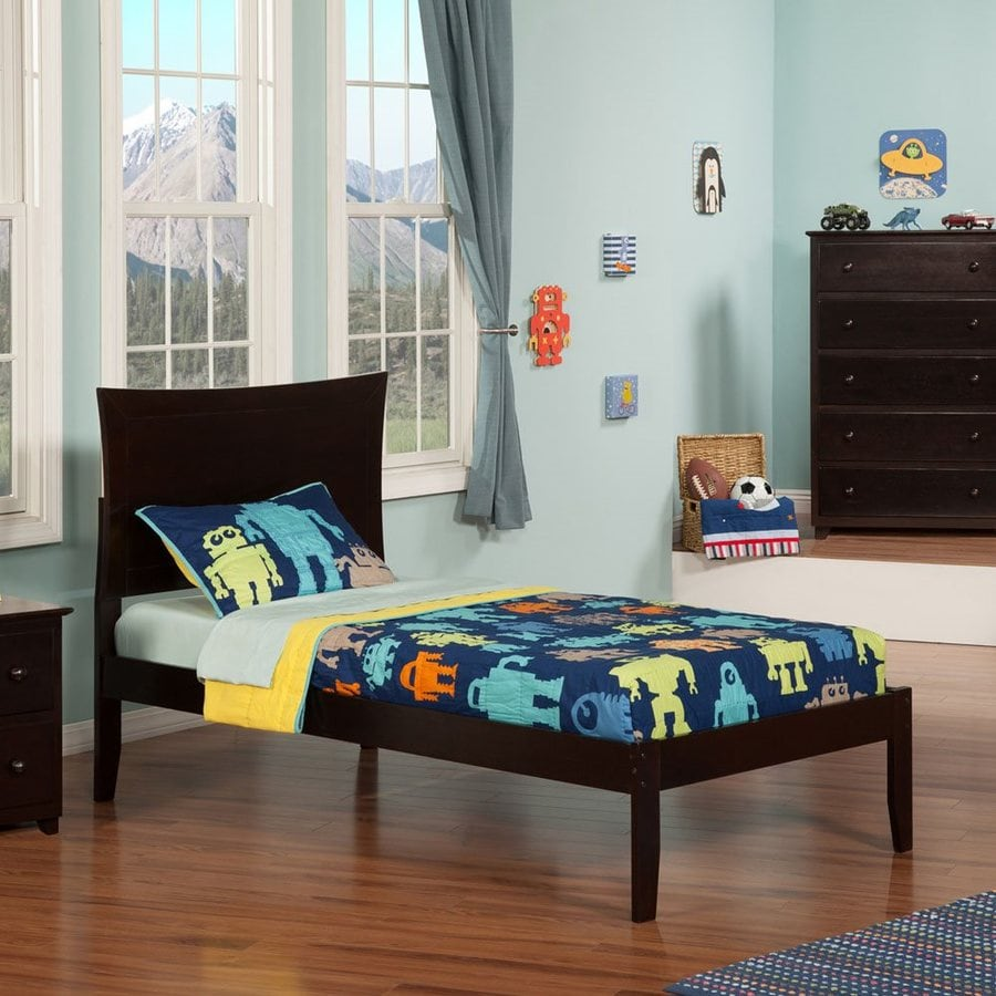Atlantic Furniture Metro Espresso Twin Platform Bed