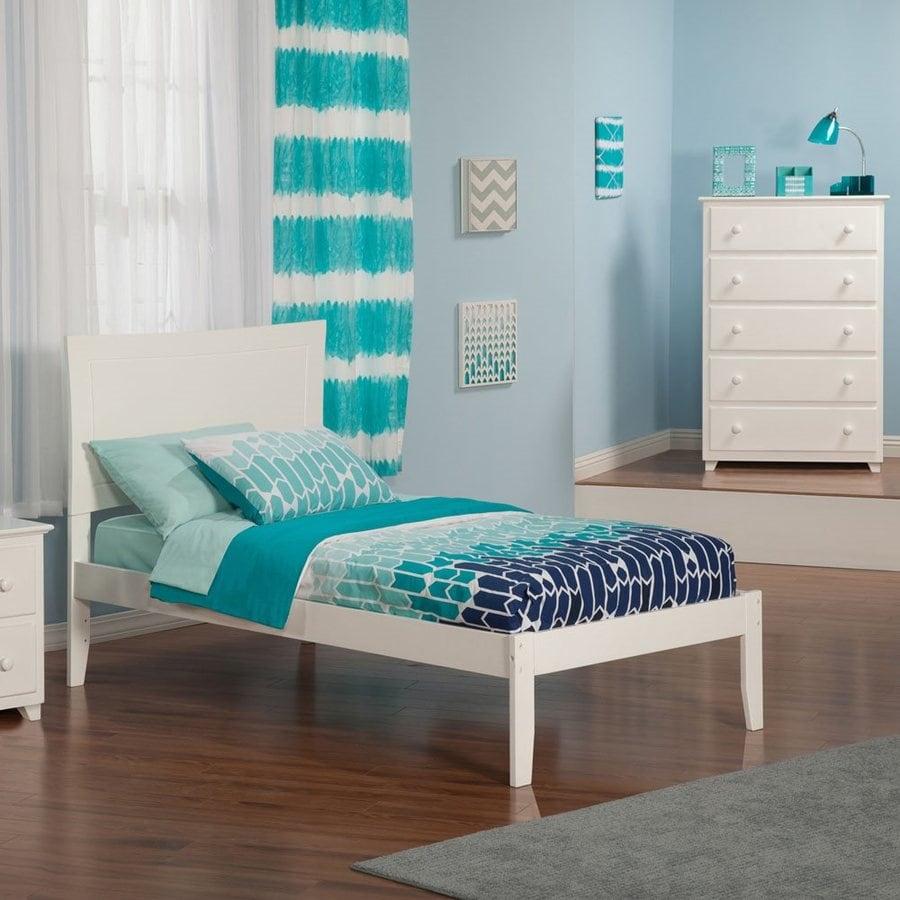 Atlantic Furniture Metro White Twin Platform Bed