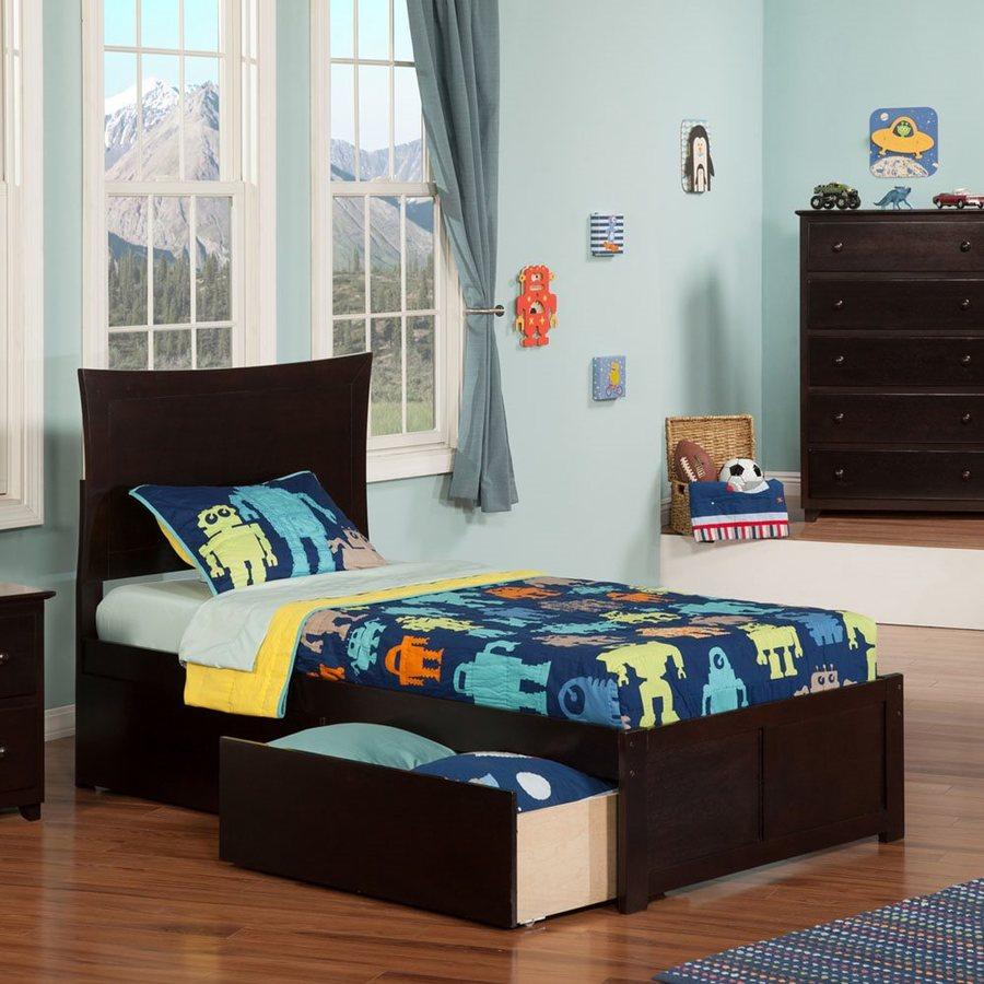 Atlantic Furniture Metro Espresso Twin Platform Bed With Storage