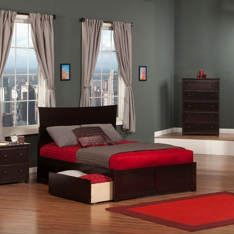 Atlantic Furniture Metro Espresso Full Platform Bed With Storage