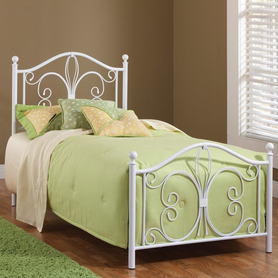 Hillsdale Furniture Ruby Textured White Twin 4-Poster Bed