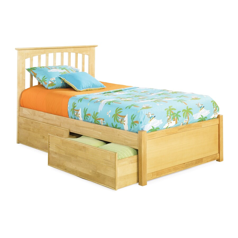 Atlantic Furniture Brooklyn Natural Maple Queen Platform Bed