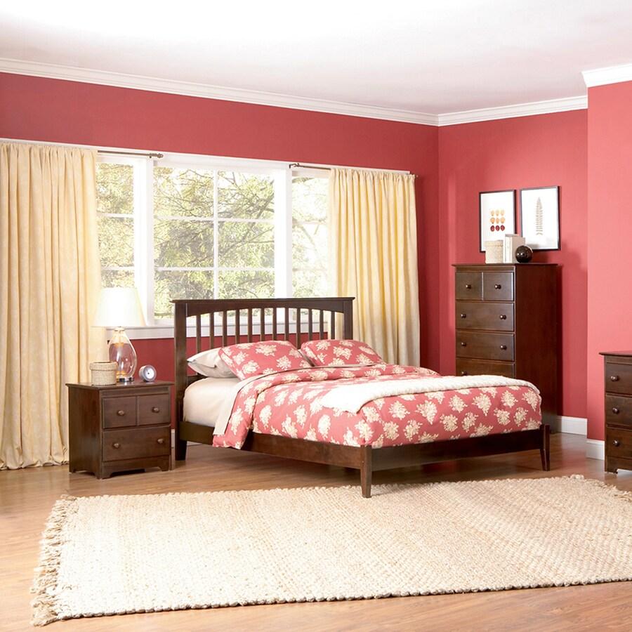 Atlantic Furniture Brooklyn Antique Walnut King Platform Bed